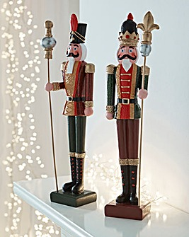 Set of 2 Large Nutcrackers