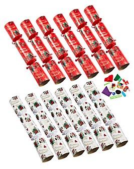 12 Luxury Leaf & Berry Crackers
