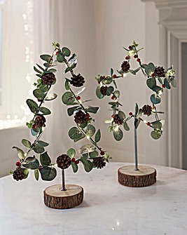 Set of 2 Ivy & Berry Tree & Star