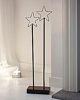 Set of 2 Wire Stars