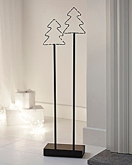 Set of 2 Wire Trees