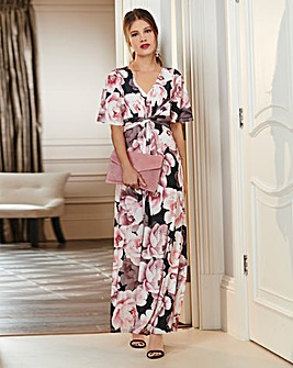 Together Floral Print Maxi Dress