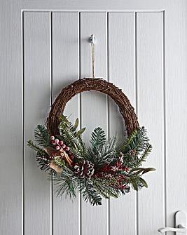 Berry & Cone Wreath 45cm