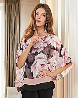 Together Floral and Stripe Print Blouse