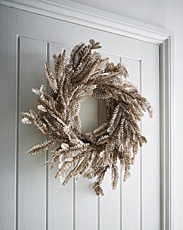Champagne Gold Glitter Fir Wreath