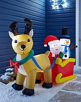 Inflatable Santas Sleigh 1.5m