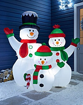 Inflatable Snowman Family 1.5m