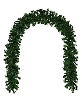 Woodcote Spruce Green Garland 2.7M