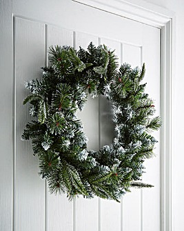 Fairmont Silver Glitter Fir Wreath