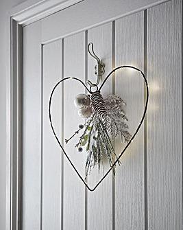 Pre lit Heart Wire Wreath