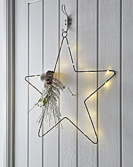 Pre lit Star Wire Wreath