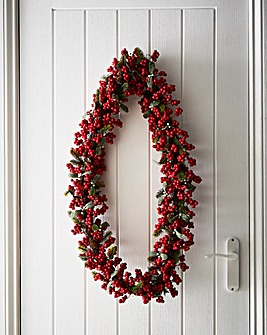 Berry And Leaf Wreath 45cm