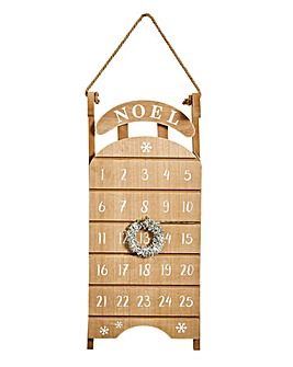 Noel Wooden Advent Calender 49cm
