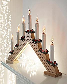 7 Flickering Bulb Pine Candlebridge