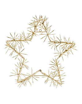 Gold Star Cluster Lights 60cm