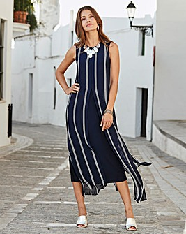 Together Layered Stripe Midi Dress
