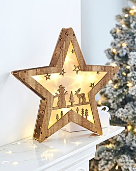 Forest Scene Lit Star