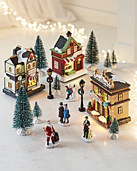 17 Piece Christmas Market Set