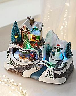 Lit Christmas Scene