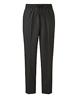 Charcoal Drawstring Tapered Trousers