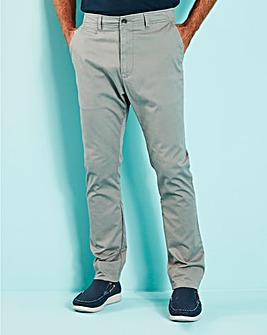 Light Grey Stretch Tapered Chino 29in