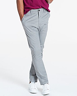 Light Grey Stretch Tapered Chino 31in