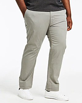 Light Grey Stretch Tapered Chino 33 Inch