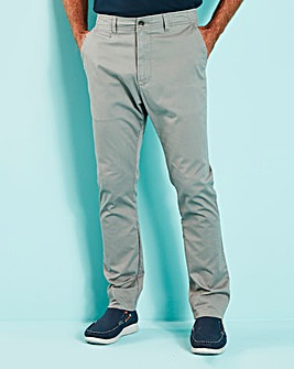 Light Grey Stretch Tapered Chino 33in