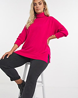 Super Soft Exposed Seams Roll Neck