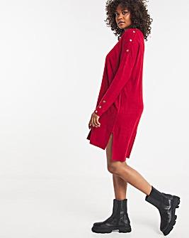 Super Soft Button Detail Dress