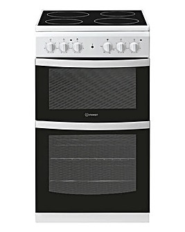 Indesit Cloe ID5V92KMW Electric Twin Cavity 50cm Cooker White