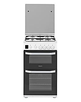 Hotpoint HD5G00CCW Gas Double Cooker