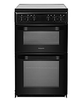 Hotpoint Cloe HD5V92KCB Electric Twin Cavity 50cm Cooker Black