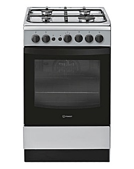 Indesit Cloe IS5G1PMSS Gas Single 50cm Cooker Silver
