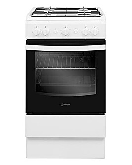 Indesit Cloe IS5G1KMW Gas Single 50cm Cooker White