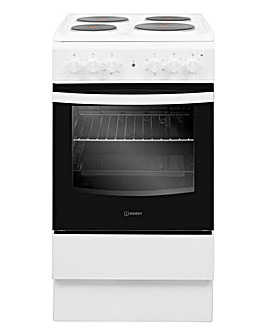 Indesit Cloe IS5E4KHW Electric Single 50cm Cooker White