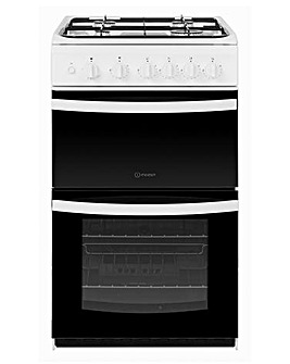 Indesit ID5G00KMW Gas Twin 50cm Cooker
