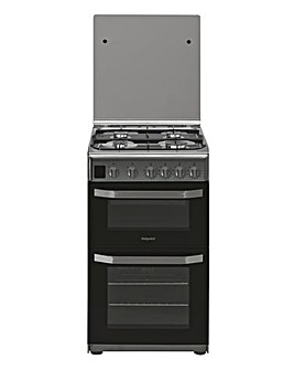 Hotpoint Cloe HD5G00CCX Gas 50cm Cooker Stainless + Installation