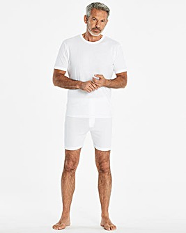 White Thermal Short Sleeve T-shirt