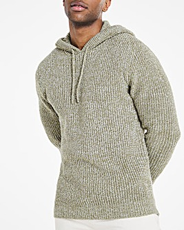 Olive Twisted Knit Hoodie