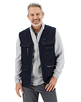 Indigo Denim Gilet
