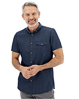 Indigo Short Sleeve Chambray Shirt