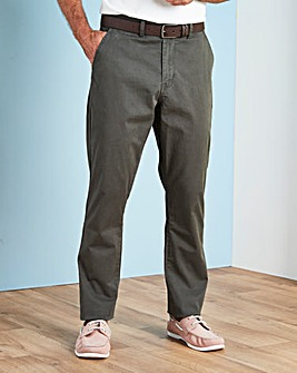 Capsule Dark Grey Stretch Chinos 29in