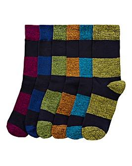 Capsule Pack of 6 Rugby Stripe Socks