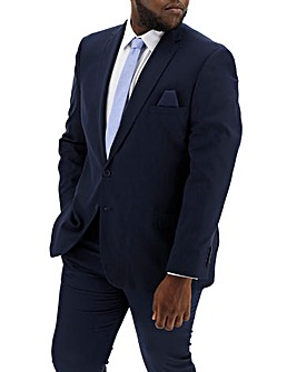 Dark Blue Stretch Regular Suit Jacket