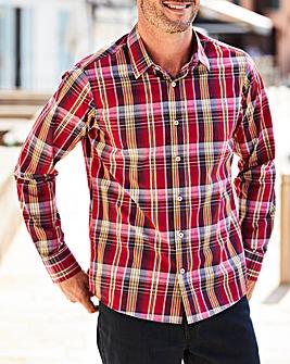 W&B Red Long Sleeve Check Shirt R