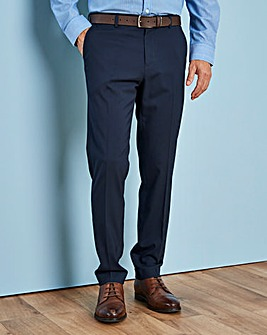 Dark Blue Stretch Regular Trousers