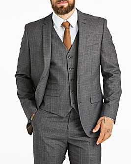 W&B LONDON Grey Check Suit Jacket