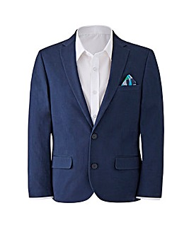 W&B London Navy Slim Fit Cotton Stretch Suit Jacket Regular