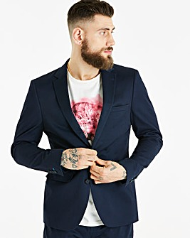 W&B London Navy Cotton Suit Jacket R